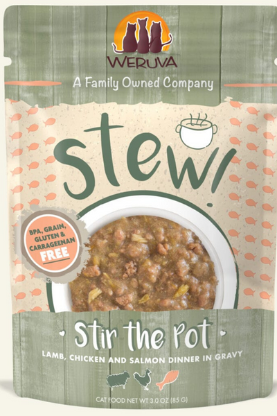 Weruva Stir the Pot Lamb, Chicken & Salmon Dinner in Gravy (3.0 oz Pouch)