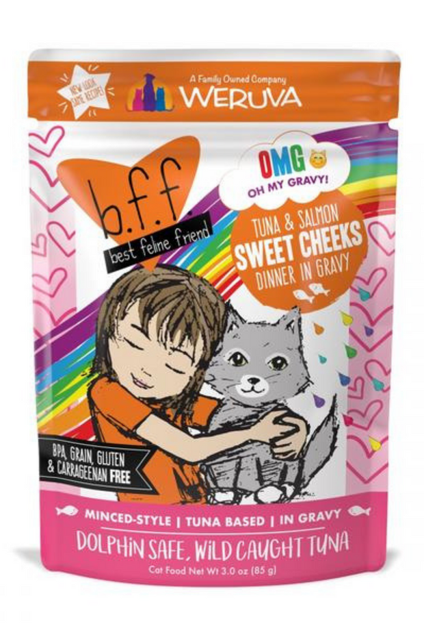 Weruva BFF Tuna and Salmon Sweet Cheeks Recipe Pouches Wet Cat Food