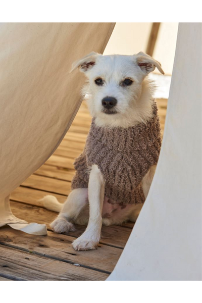 Barefoot Dreams: Cozychic Ribbed Pet Sweater, Warm Gray