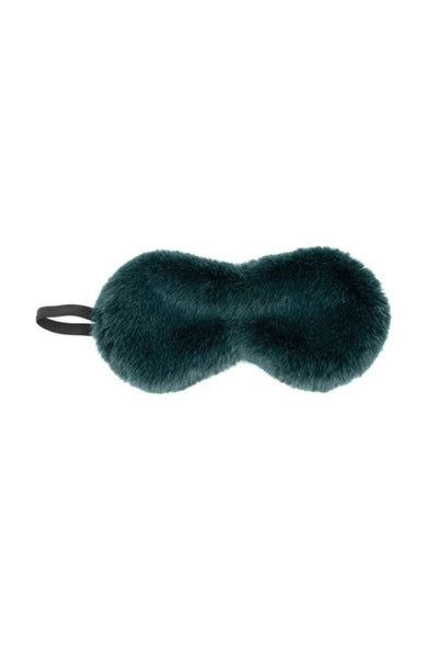 Faux Emerald Fur Sleep Mask