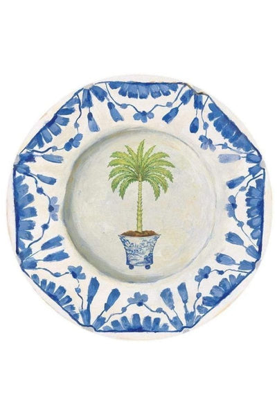 Caspari Palm China Salad Plates