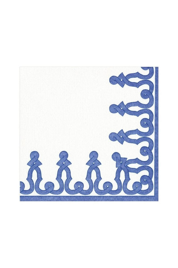 Caspari Blue & White Passementerie Lunch Napkins