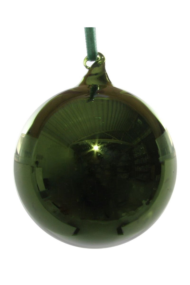 Ornament, Shiny Green Glass