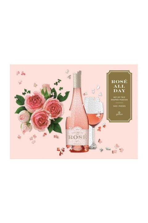 Rose All Day Set of Two Shaped Jigsaw Puzzle Set