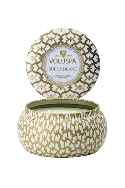 VOLUSPA, Suede Blanc 2 Wick Maison Candle