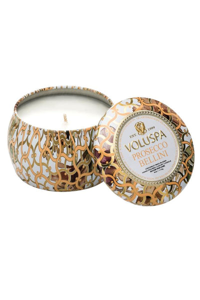 VOLUSPA, Prosecco Rose Petite Tin Candle