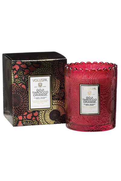 VOLUSPA, Goji Tarocco Orange Scalloped Edge Candle