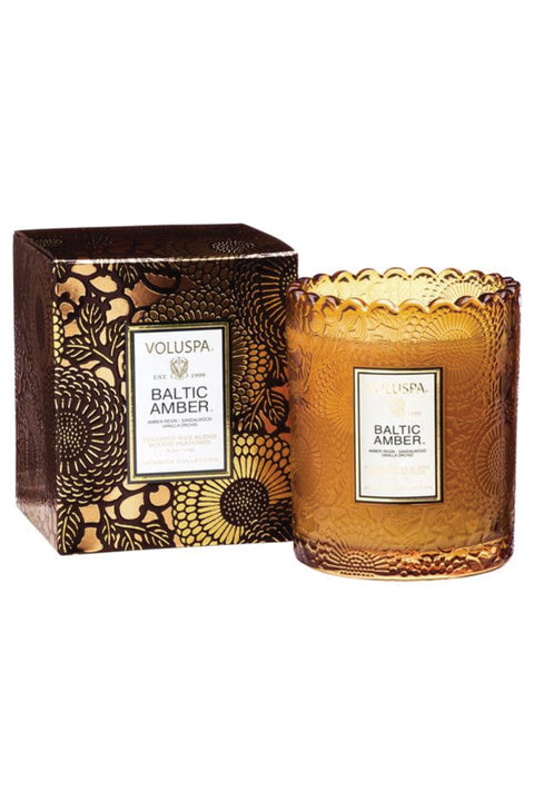 VOLUSPA, Baltic Amber Scalloped Edge Candle