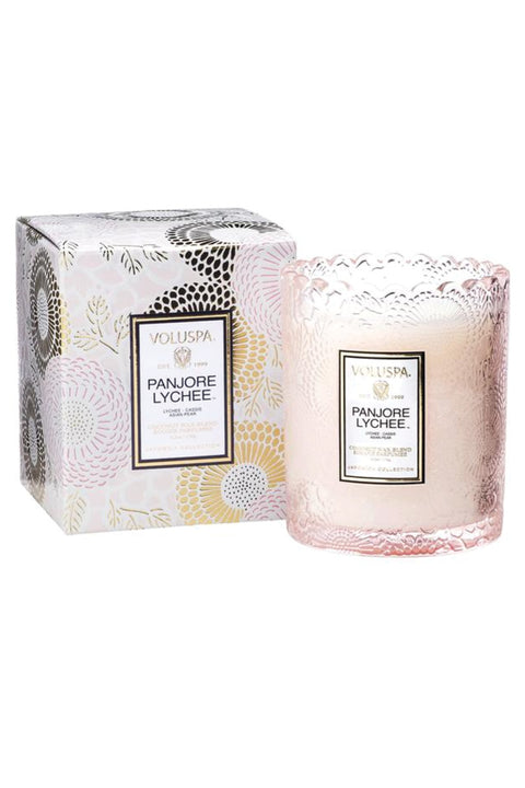 Voluspa, Panjore Lychee Scalloped Candle