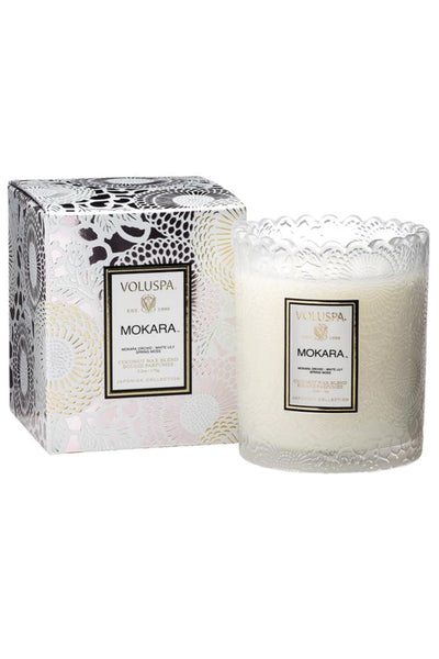 VOLUSPA, Mokara Scalloped Edge Candle