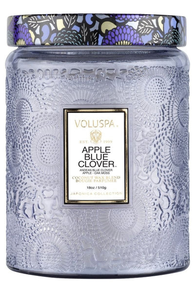 VOLUSPA Apple Blue Clover Large Jar Candle