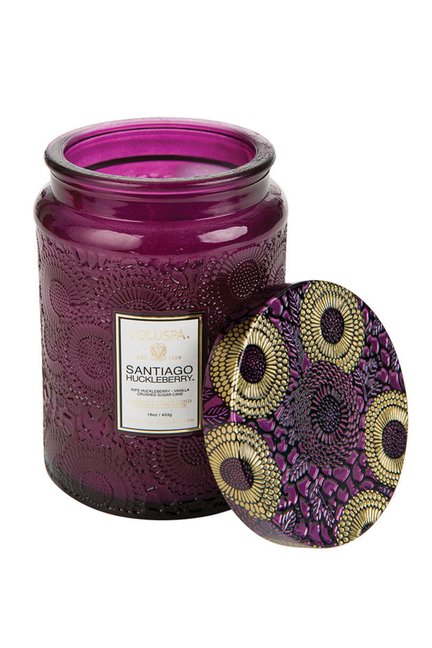 VOLUSPA, Santiago Huckleberry Large Jar Candle