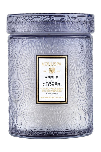 VOLUSPA Apple Blue Clover Small Jar Candle