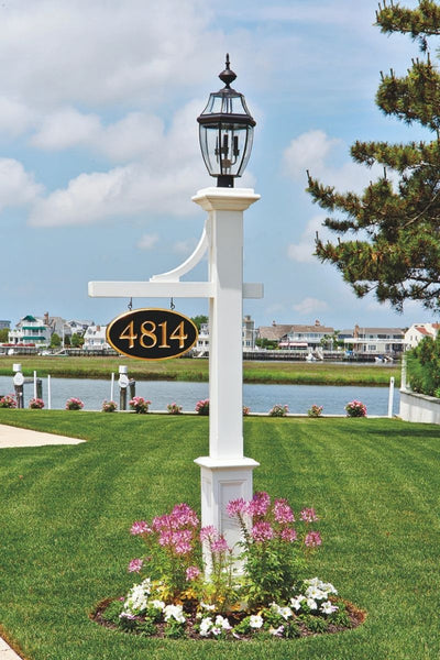 Walpole Outdoors | Hammond Lantern Post with Mortised Sign Bracket