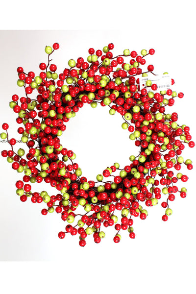 Wreath, Water Resistant Crabapple 22""