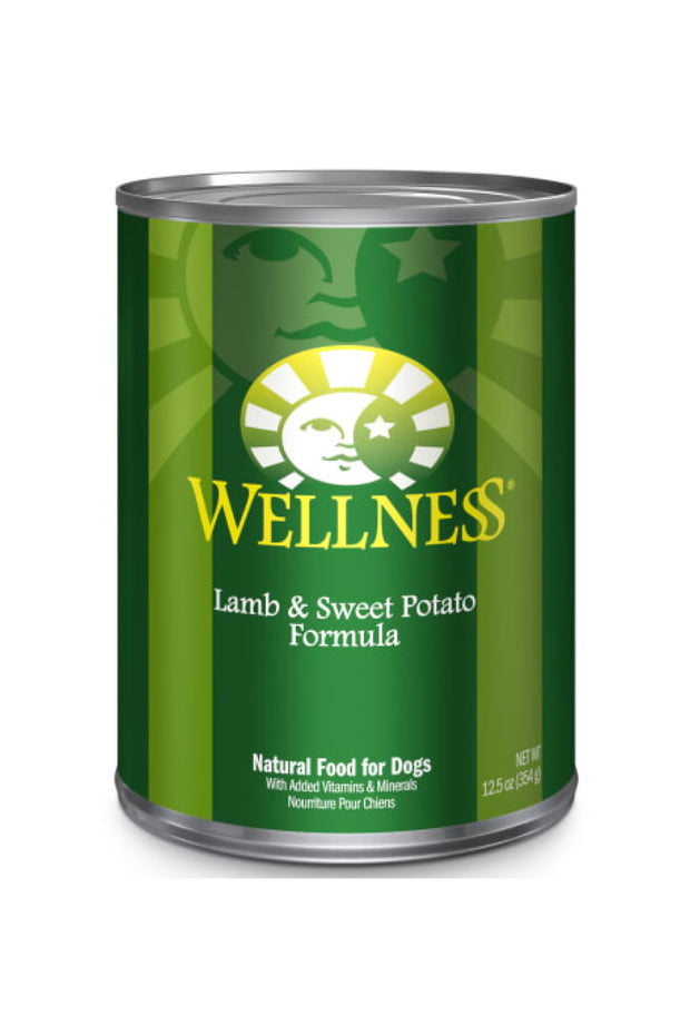 Wellness Complete Health Natural Lamb & Sweet Potato Canned Dog Food, 12.5 oz., Case of 12