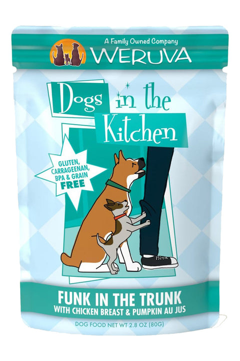 Weruva Dogs in the Kitchen Funk in the Trunk Pouch with Chicken & Pumpkin Au Jus (2.8 oz)