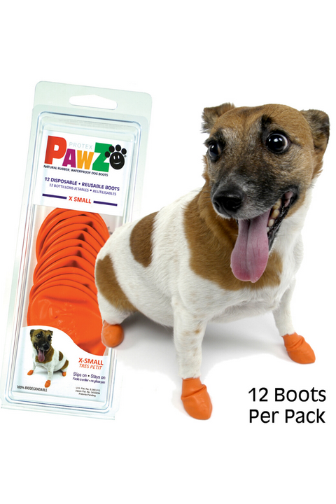 Pawz Rubber Disposable Dog Boots