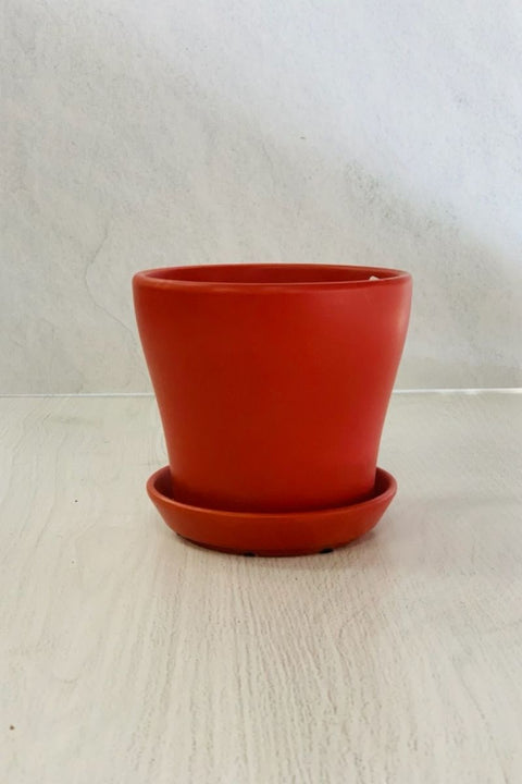City Center Petits Pot Matte Red 6""