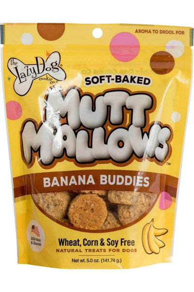The Lazy Dog Cookie Co. Mutt Mallows Banana Buddies Soft-Baked Dog Treats