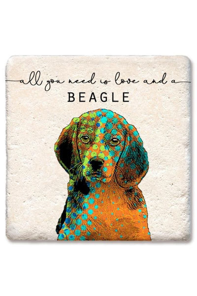 Tipsy Coasters Love and a Beagle Coaster