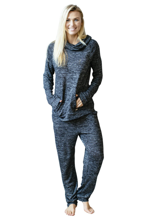 Black Heather Lounge Pants