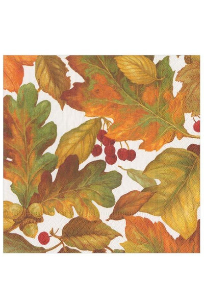 Caspari Autumn Leaves II Paper Cocktail Napkins