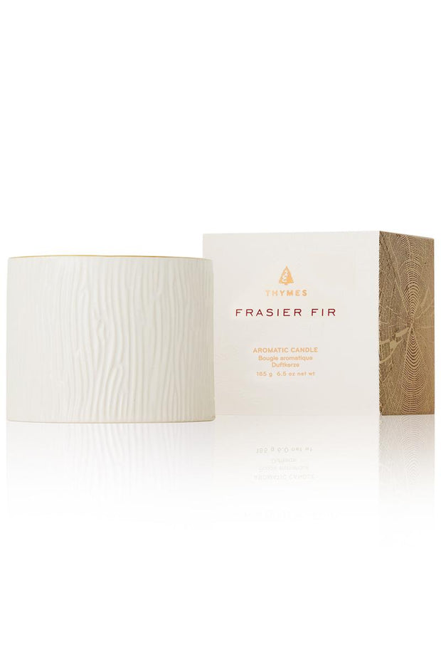 Thymes Frasier Fir Gilded Ceramic Candle