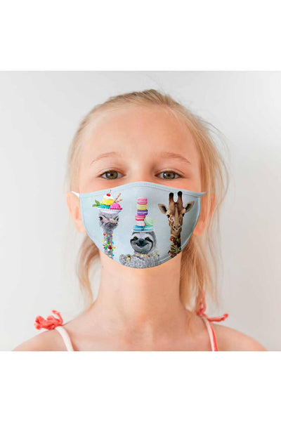 Cinema Snacks Gang Cotton Jersey Child Face Mask