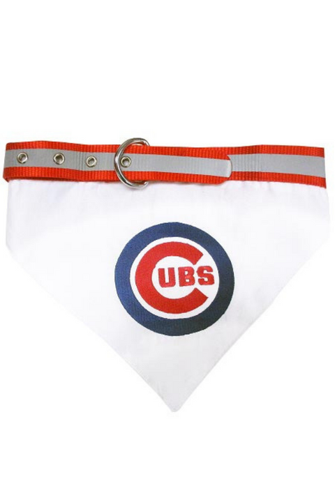 Chicago Cubs Dog Collar/Bandanna Combo