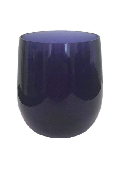 Caspari Acrylic 12oz Tumbler Glass in Cobalt - 1 Each