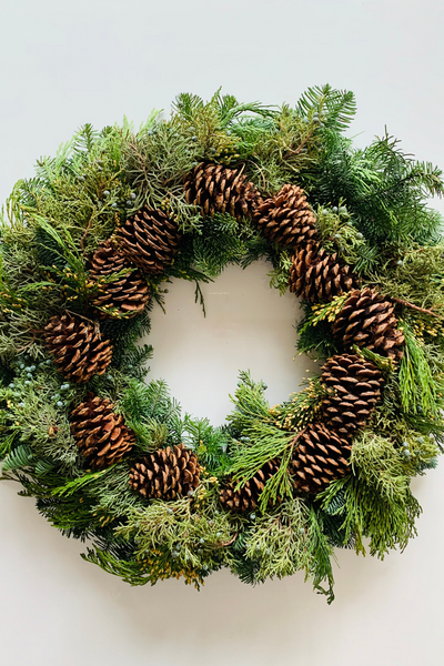 Wreath | Fresh | Multi Cone 24""