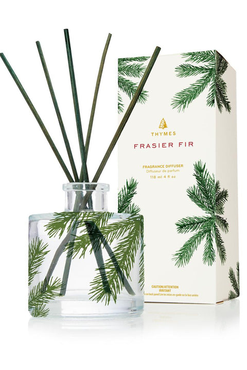 Thymes Frasier Fir Pine Needle Clear Reed Diffuser