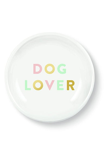 """Dog Lover"" Mini Round Tray"
