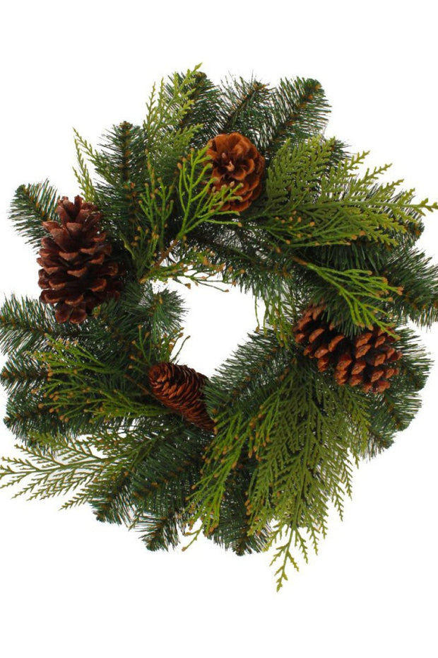 Faux Douglas Fir Wreath 14""