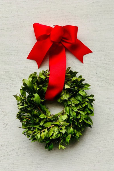 Wreath, Green Myrtle 8""