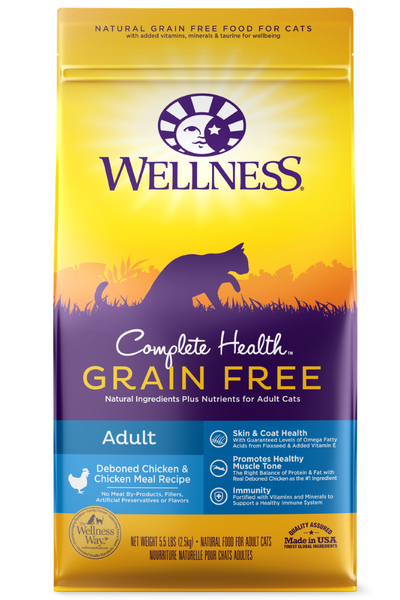 Wellness Complete Health Grain Free Adult Dry Cat Food
