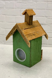 Green Wooden Birdhouse