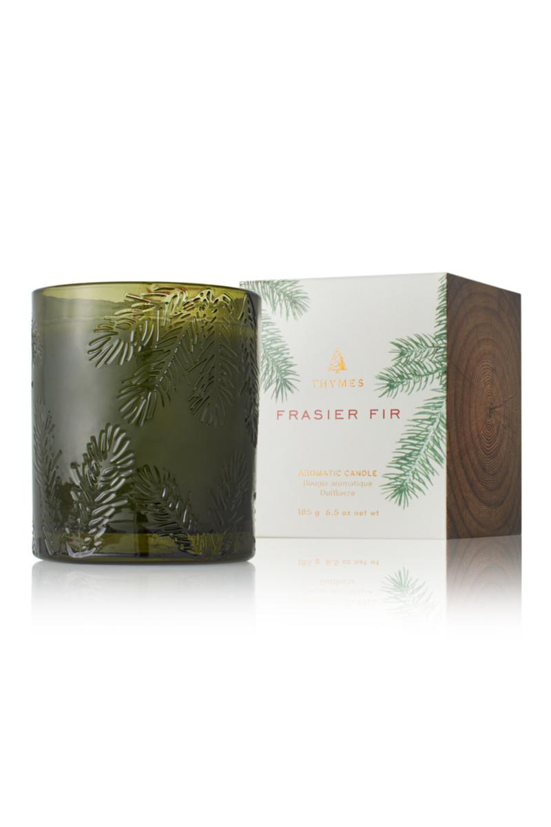 Candle, Fraser Fir Green Glass (6.5oz)
