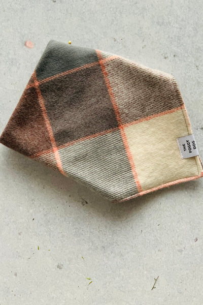 Dog Bandana - Grey Plaid