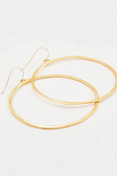 Gorjana, G Ring Earrings