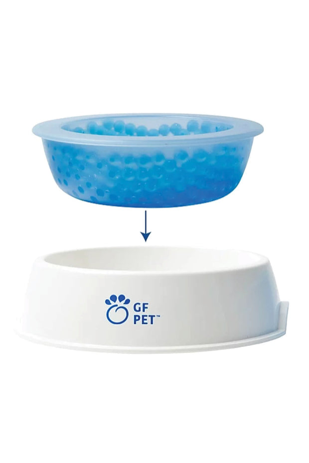 GF Pet White and Blue Ice Pet Bowl