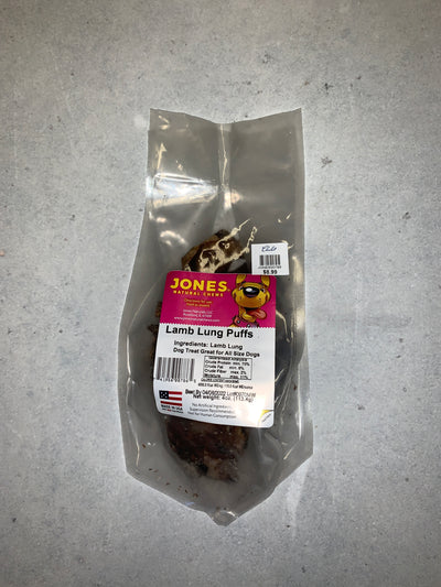 Jones Lamb Lung Puffs 4oz