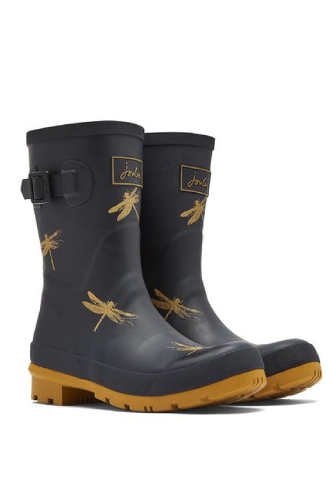Joules Wellies | Molly Mid High: BLACK DRAGON FLY