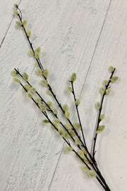 Silk Grey Pussywillow Stem 31""