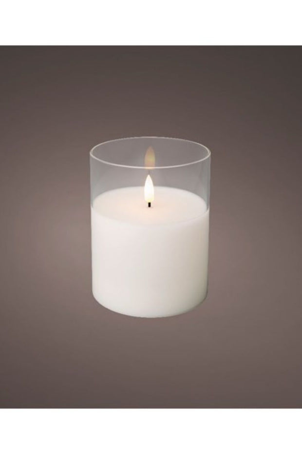Lumineo LED Wick Glass Candle