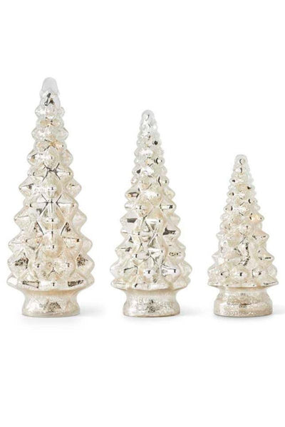 Mercury Glass LED Christmas Tree - 3 sizes