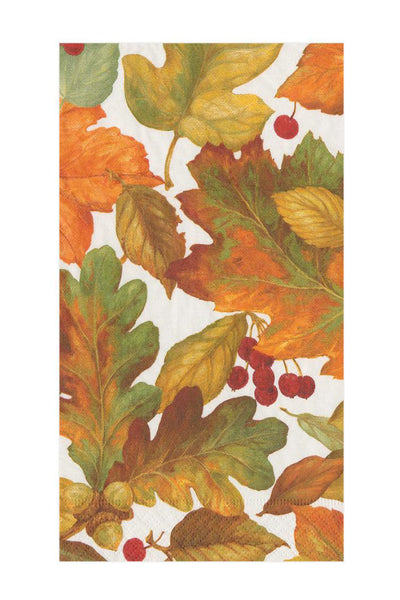 Caspari Autumn Leaves II Paper Guest Towel