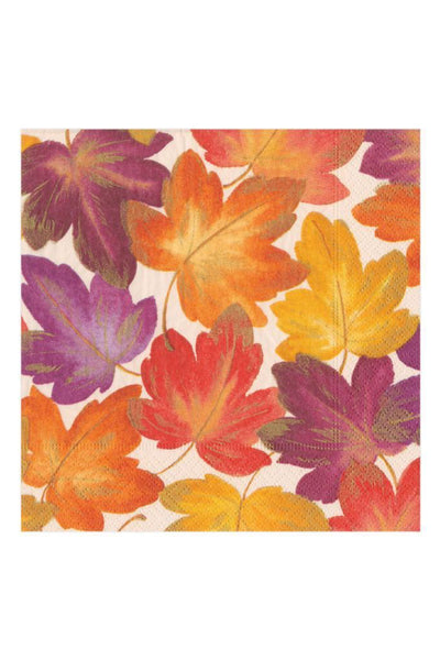 Caspari Fallen Leaves Fall Thanksgiving Paper Dinner Napkins