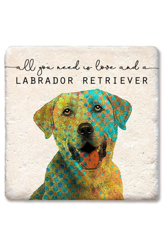 Tipsy Coasters Love and a Labrador Retriever Coaster